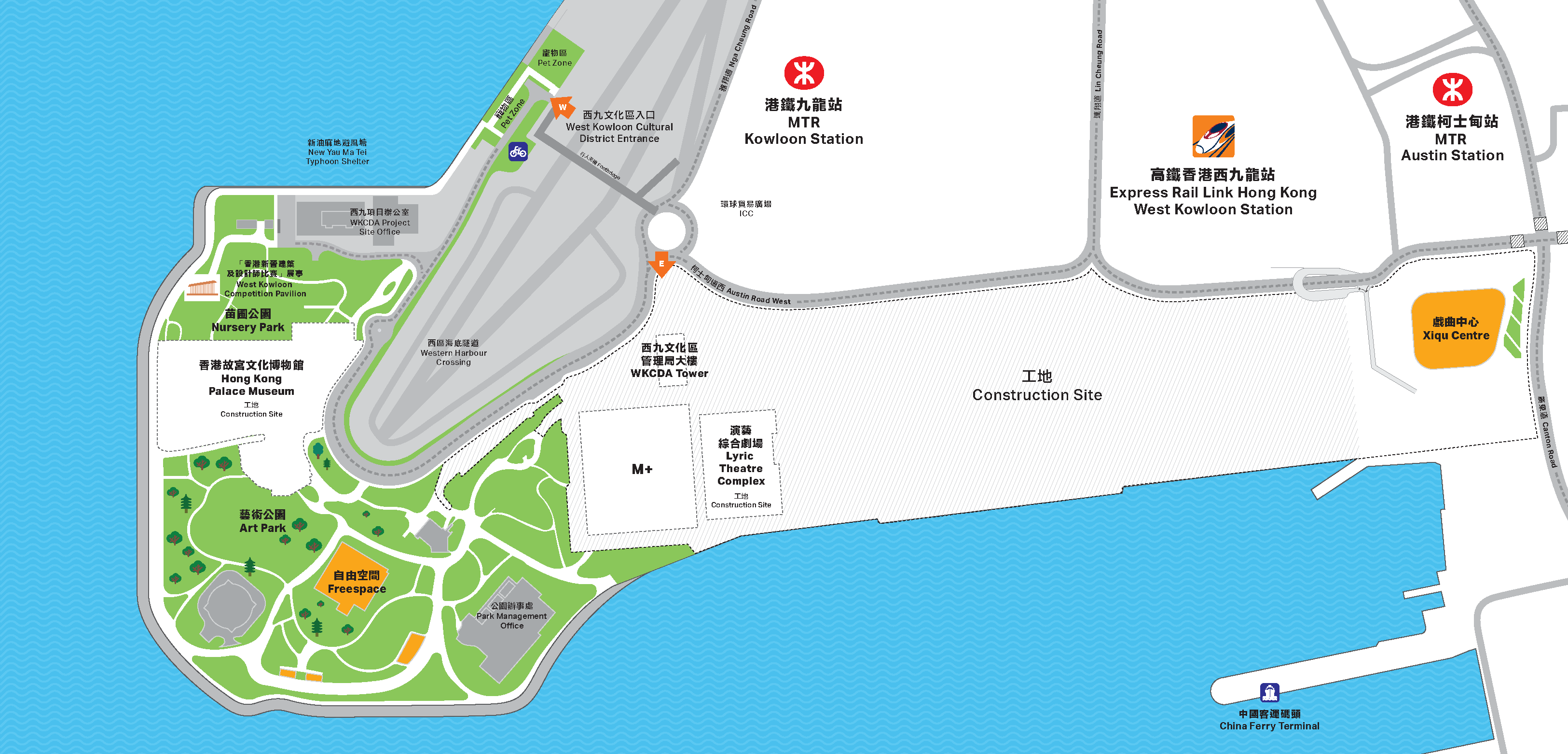 West Kowloon map