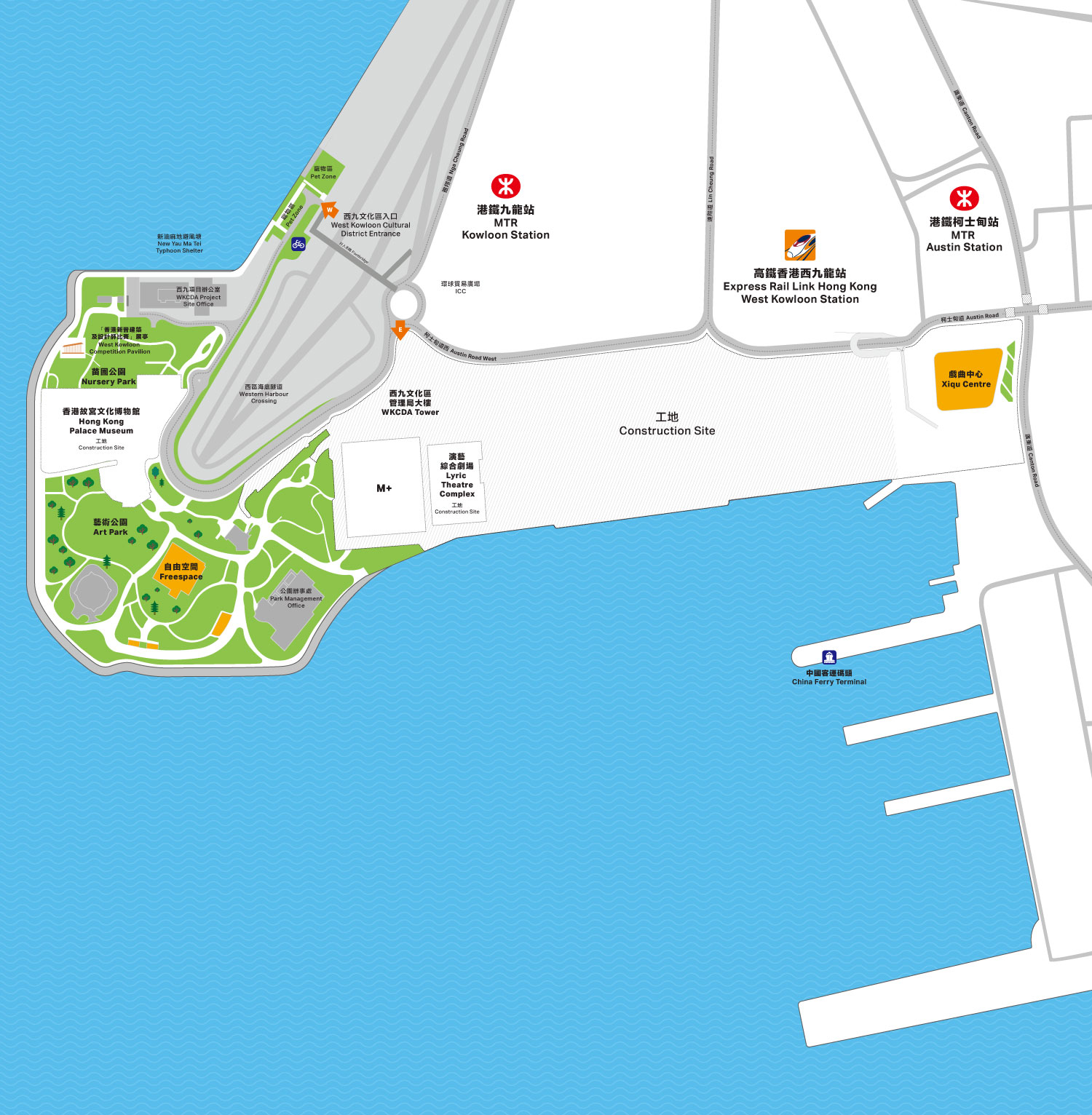 West Kowloon district mobile map