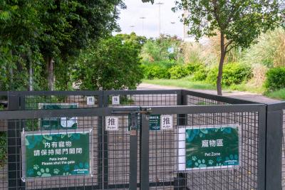 The Pet Zone is double-gated to keep your four-legged companions safe