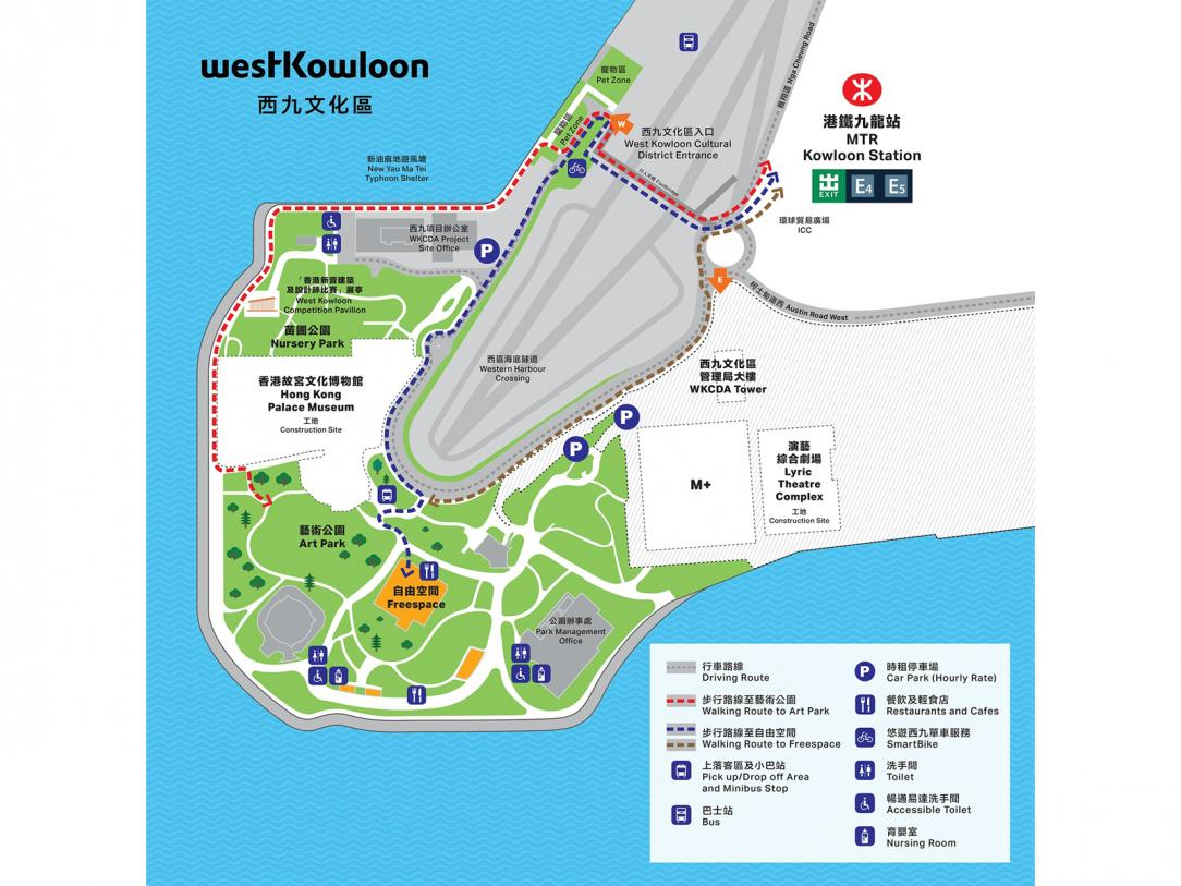 West Kowloon Cultural District Map