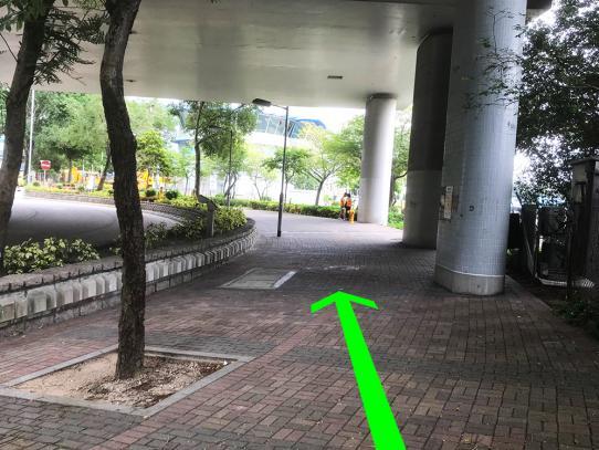 Getting to WKCDA Tower from MTR Station via Nga Cheung Road