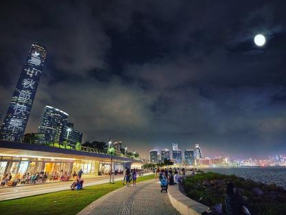 Admire the Full Moon in Art Park