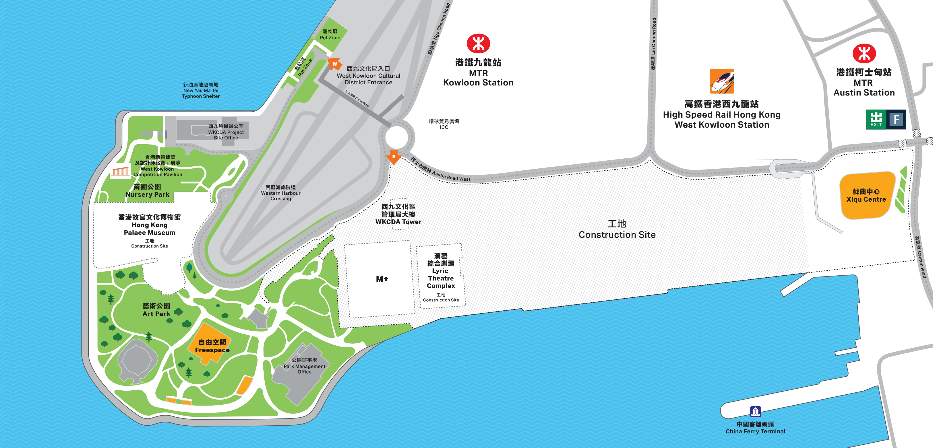 West Kowloon District Map